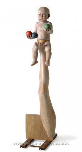 <p><strong>Malabarista</strong><strong> / Juggler</strong>, 2012. 144x33x50 cm.</p>
